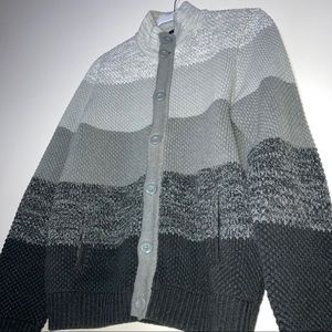 EXPRESS grey ombré color block cozy knit cardigan